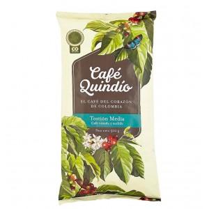 Café Quindío Tostión media (tostado y molido) Bolsa X 500 Gramos
