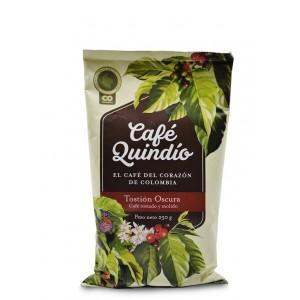 Café Quindío Tostión Oscura (tostado y molido) Bolsa X 250 Gramos