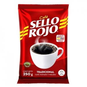 Café Sello rojo Tradicional Bolsa X 250 Gramos