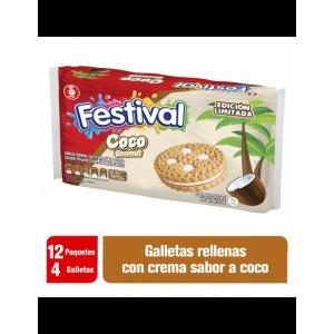 Festival galleta coco Paquete X 12 unidades