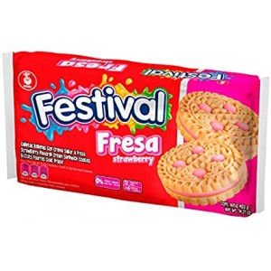 Festival galleta fresa Paquete X 12 unidades