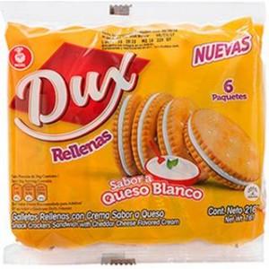 Dux galleta rellena de queso Paquete X 6 unidades