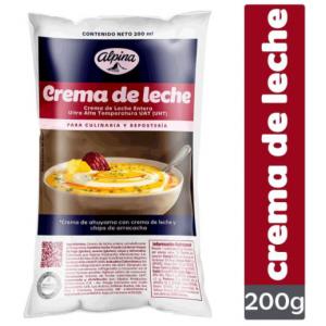 Crema de Leche alpina Bolsa X 200 Gramos