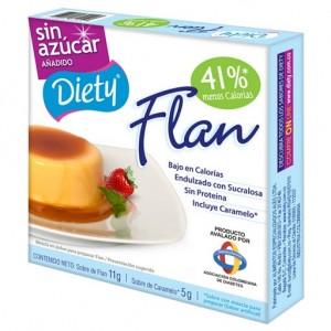 Flan con caramelo Diety sin azúcar añadido Caja X 11 Gramos
