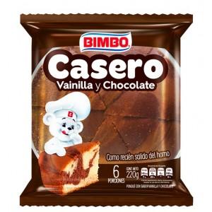 Casero vainilla y Chocolate Paquete X 6 Porciones