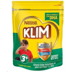 Alimento Lácteo en polvo Klim 3+ Bolsa X 500 Gramos