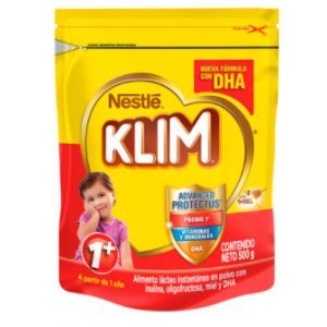 Alimento Lácteo en polvo Klim 1+ con Miel Bolsa X 500 Gramos