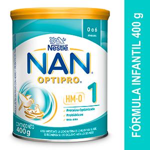 Formula Láctea en polvo NAN optipro 0 - 6 Meses Lata X 400 Gramos