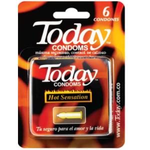 Today Condoms Hot Sensation Caja X 6 Unidades