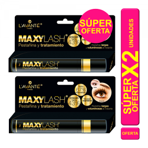 Maxylash  Pestañina y tratamiento Oferta 2 Tubos X 10 Gramos