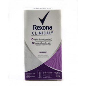 Rexona Clinical Extra Dry Antitraspirante Frasco X 48 Gramos