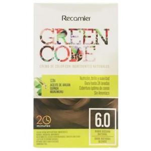 Green Code  Crema de color Kit Rubio oscuro natural 6.0  Caja X 50 Gramos