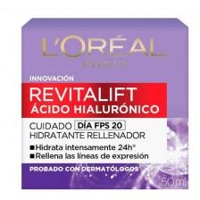 Revitalift Acido Hialurónico Cuidado día FPS 20 Frasco X 50 Ml