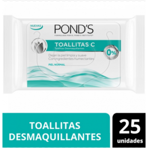 Ponds Toallitas C Piel Normal X 25 Unidades