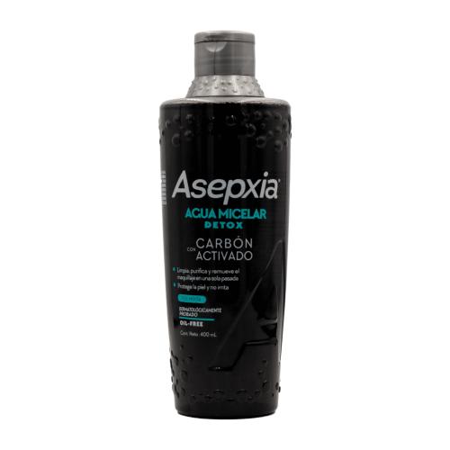 Asepxia Agua micelar détox Piel mixta oil-free Frasco X 400 Ml