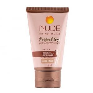 Nude Instant Bronze Maquillaje para piernas Crema Claro-Medio Tubo X 40 Ml