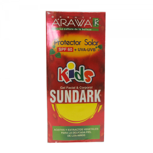 Arawak Protector SPF 60 Gel facial y corporal Sundark Kids Tubo X 120 Ml