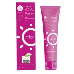 Sol-or Protector solar Crema Facial y corporal Piel extremadamente seca Tubo X 60 Gramos