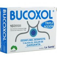 Bucoxol Triple Acción 3 Mg/ 1 Mg Caja X 10 Tabletas Masticables
