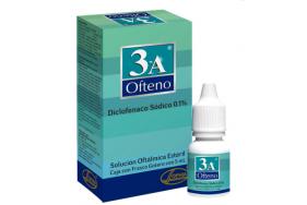 3-A Ofteno 0.1% Solución oftálmica estéril Frasco X 5 Ml
