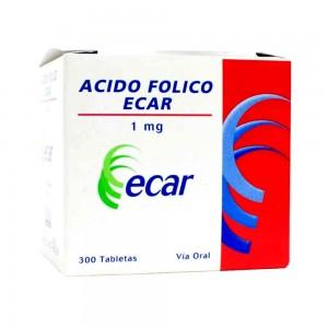 Ácido Fólico 1 Mg Caja X 300 Tabletas