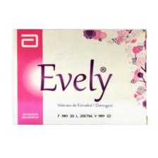 Evely Valerato de Estradiol/ Dienogest Caja X 28 Tabletas (MAXIMO 3 X CLIENTE)