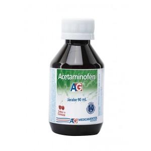 Acetaminofén Jarabe Niños AG Sabor cereza Frasco X 90 Ml