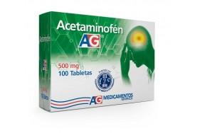 Acetaminofén 500 Mg AG Caja X 100 Tabletas