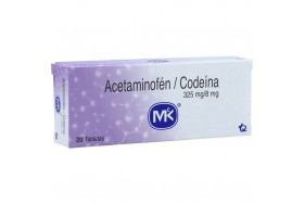 Acetaminofén + codeína 325Mg/8Mg Caja X 20 tabletas