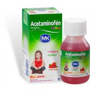Acetaminofén jarabe fresa 160 Mg Frasco X 90 Ml