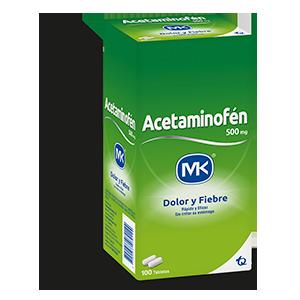 Acetaminofén Mk 500 Mg Blister X 10