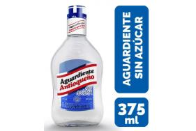 Aguardiente Antioqueño sin azúcar Botella X 375 Ml