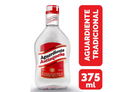 Aguardiente Antioqueño Tradicional Botella X 375 Ml