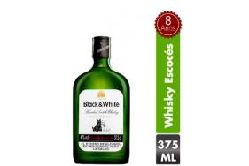 Whisky escocés Black & White Botella X 375 Ml