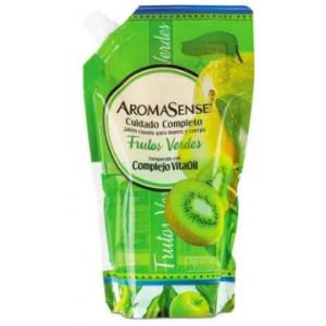 Aromasense Jabón liquido Frutos Verdes Doy pack X 800 Ml