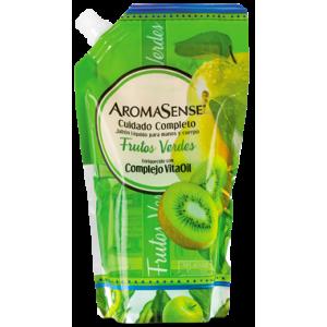 Aromasense Jabón liquido Frutos Verdes Doy pack X 400 Ml