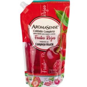 Aromasense Jabón liquido Frutos Rojos Doy pack X 400 Ml