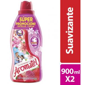 Aromatel Fragancia Frutos Rojos Suavizante de Ropa Oferta 2 Frascos X 900 Ml