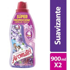 Aromatel Fragancia lavanda mora Suavizante de Ropa Oferta 2 Frascos X 900 Ml